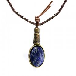 Colar Lapis-Lazuli Ouro Velho