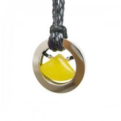Pingente Agata Amarela Triangular