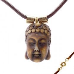 Buda Resina Amarela Ouro