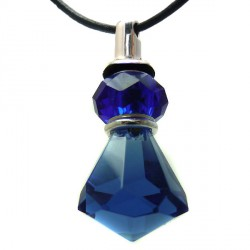 Pingente Cristal Facetado Azul