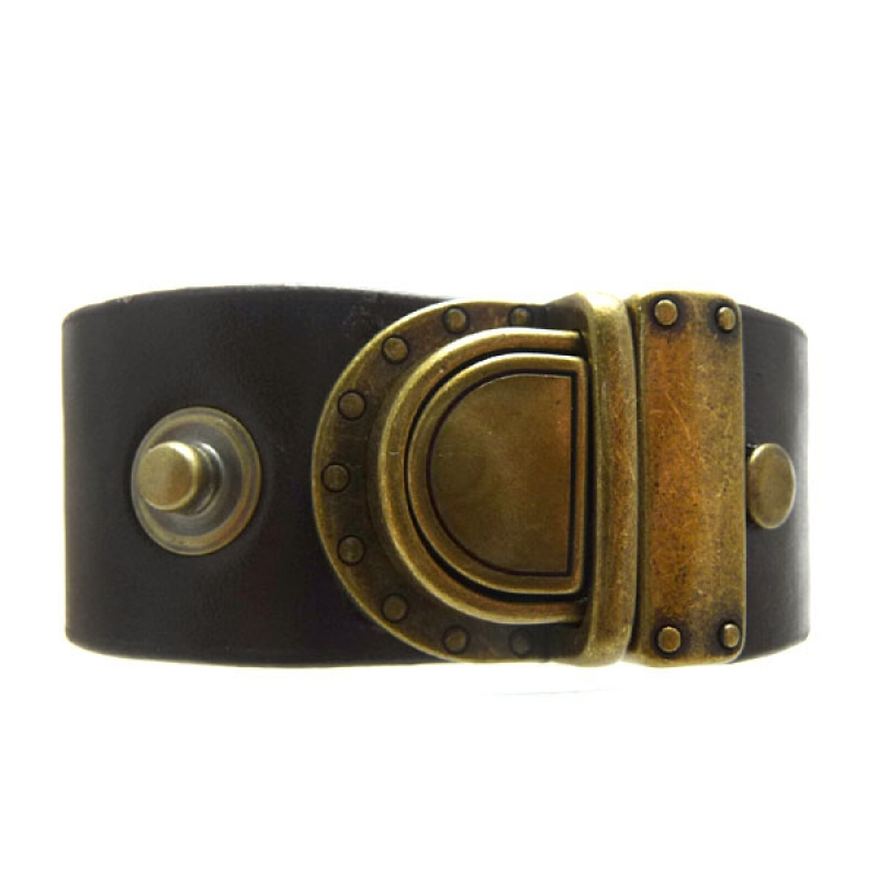 Bracelete Fechadura Maleta Ouro Velho