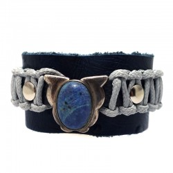 Pulseira Avestruz Lapis Lazuli